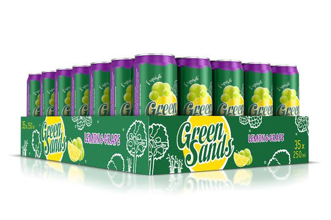 Greensands (grape lemon, apel lemon, leci lemon) kaleng