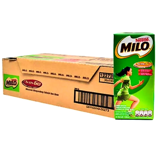Milo coklat UHT kotak tanggung