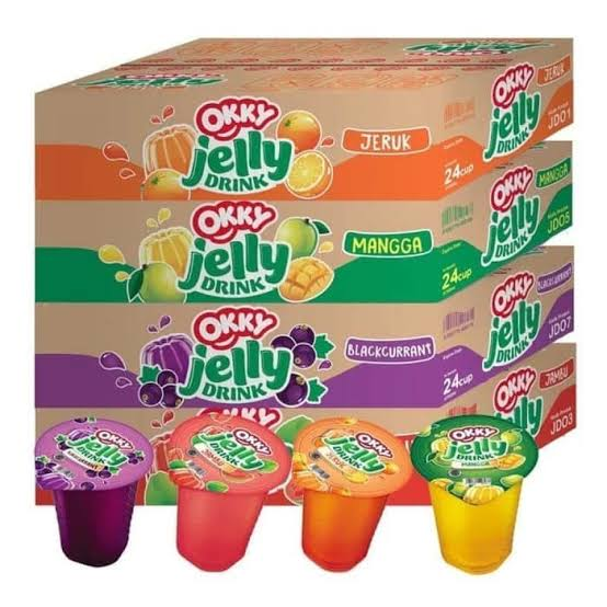 Okky Jelly Drink (anggur, jambu, jeruk, strobery) kecil