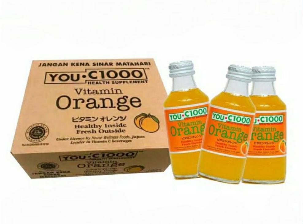 You C 1000 botol kaca (orange & Lemon)